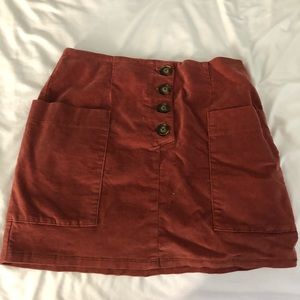 Urban Outfitters - Suede Mini Skirt